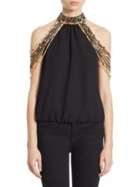 Alice   Olivia - Breslin Beads Top at Saks Fifth Avenue