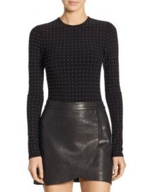 Alice   Olivia - Britney Studded Top at Saks Fifth Avenue