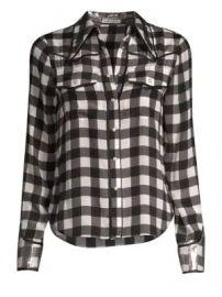 Alice   Olivia - Caleb Western Check Plaid Shirt at Saks Fifth Avenue