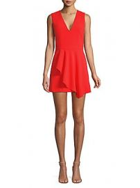 Alice   Olivia - Callie Sleeveless Asymmetric Overlay A-line Dress at Saks Off 5th