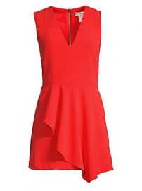 Alice   Olivia - Callie Sleeveless Asymmetric Overlay A-line Dress at Saks Fifth Avenue