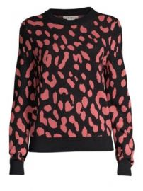 Alice   Olivia - Chia Leopard Print Wool Knit Sweater at Saks Fifth Avenue