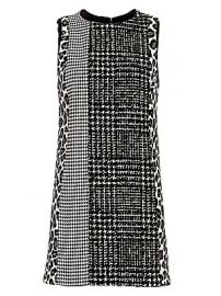 Alice   Olivia - Clyde Patchwork Shift Dress at Saks Fifth Avenue