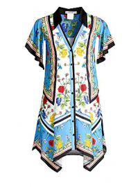 Alice   Olivia - Conner Floral Handkerchief Shirtdress at Saks Fifth Avenue