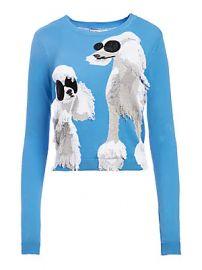 Alice   Olivia - Connie Dog Intarsia Sweater at Saks Off 5th
