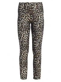 Alice   Olivia - Connley High Waist Slim Fit Leopard Print Leggings at Saks Fifth Avenue