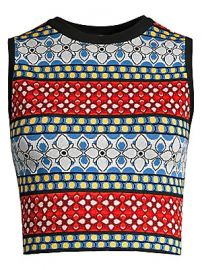 Alice   Olivia - Coryn Printed Tank Top at Saks Fifth Avenue