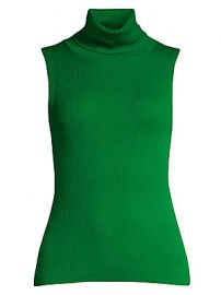 Alice   Olivia - Darcey Sleeveless Rib-Knit Turtleneck at Saks Fifth Avenue
