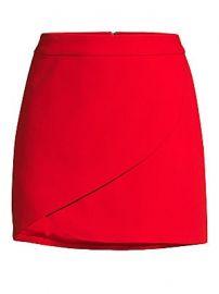 Alice   Olivia - Dasia Asymmetric Fold Mini Skirt at Saks Fifth Avenue