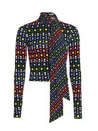 Alice   Olivia - Delaina Tie-Neck Top at Saks Fifth Avenue