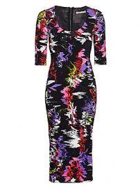 Alice   Olivia - Delora Abstract Print Bodycon Dress at Saks Fifth Avenue