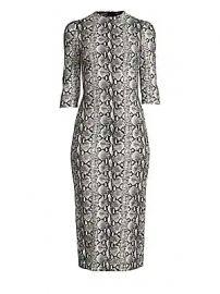Alice   Olivia - Delora Fitted Mockneck Dress at Saks Fifth Avenue