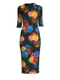 Alice   Olivia - Delora Floral Fitted Dress at Saks Fifth Avenue