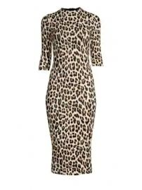 Alice   Olivia - Delora Leopard Bodycon Dress at Saks Fifth Avenue