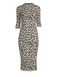 Alice   Olivia - Delora Leopard Bodycon Dress at Saks Fifth Avenue
