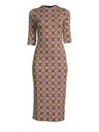 Alice   Olivia - Delora Sheath Midi Dress at Saks Fifth Avenue