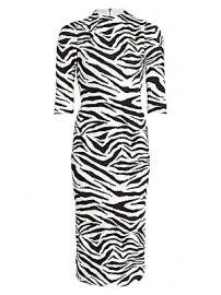 Alice   Olivia - Delora Zebra-Print Sheath Dress at Saks Fifth Avenue