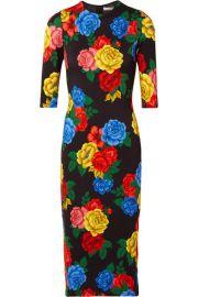 Alice   Olivia - Delora floral-print stretch-jersey midi dress at Net A Porter