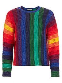 Alice   Olivia - Dessie Racked Rib-Knit Pullover at Saks Fifth Avenue