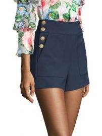 Alice   Olivia - Donald Side Button Shorts at Saks Fifth Avenue