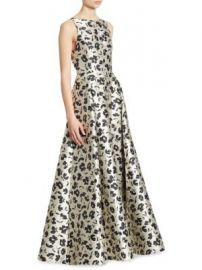 Alice   Olivia - Drea Floral-Print Pleated A-Line Gown at Saks Fifth Avenue
