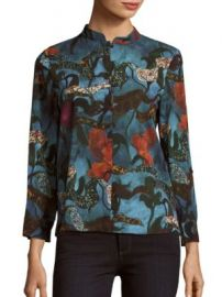 Alice   Olivia - Eloise Printed Blouse at Saks Off 5th