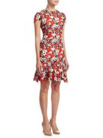 Alice   Olivia - Imani Cap-Sleeve Dress at Saks Fifth Avenue