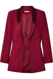 Alice   Olivia - Jace oversized satin-trimmed crepe blazer at Net A Porter