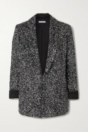 Alice   Olivia - Jace sequined silk-satin blazer at Net A Porter