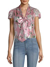 Alice   Olivia - Jeannie Bow-Collar Blouse at Saks Off 5th