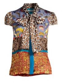 Alice   Olivia - Jeannie Bow-Collar Blouse at Saks Fifth Avenue