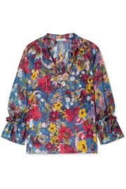 Alice   Olivia - Julius floral-print chiffon blouse at Net A Porter