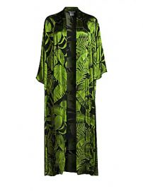 Alice   Olivia - Kalena Long Draped Open Front Caftan at Saks Fifth Avenue