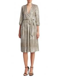 Alice   Olivia - Katina Gathered Midi Dress at Saks Fifth Avenue