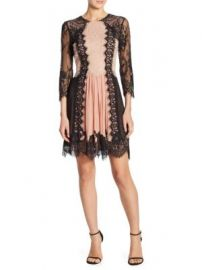 Alice   Olivia - Kaylen Lace Fit-And-Flare Dress at Saks Fifth Avenue