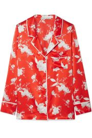 Alice   Olivia   Keir floral-print silk-satin shirt at Net A Porter