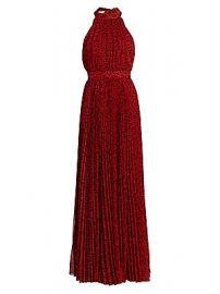 Alice   Olivia - Kelissa Leopard Halter Pleated Maxi Dress at Saks Fifth Avenue