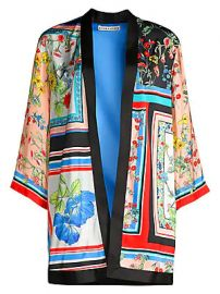 Alice   Olivia - Koho Patchwork Floral Print Topper Jacket at Saks Fifth Avenue
