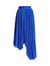 Alice   Olivia - Koryn Asymmetrical Pleated Midi Skirt at Saks Fifth Avenue