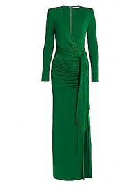 Alice   Olivia - Kyra Ruched Maxi Dress at Saks Fifth Avenue