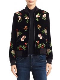 Alice   Olivia - Lonnie Cropped Bomber Jacket at Saks Fifth Avenue
