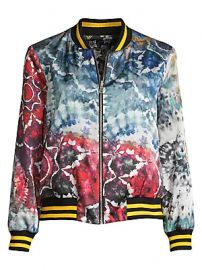 Alice   Olivia - Lonnie Reversible Oversized Floral Tie Dye Bomber Jacket at Saks Fifth Avenue