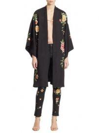 Alice   Olivia - Lupe Embroidered Kimono Jacket at Saks Fifth Avenue