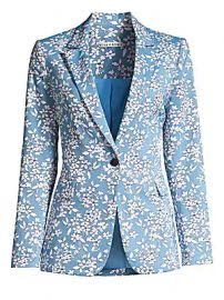 Alice   Olivia - Macey Floral One-Button Blazer at Saks Fifth Avenue