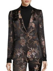 Alice   Olivia - Macey Jacquard Blazer at Saks Fifth Avenue