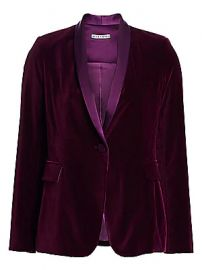 Alice   Olivia - Macey Velvet Single-Breasted Blazer at Saks Fifth Avenue