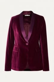 Alice   Olivia - Macey satin-trimmed velvet blazer at Net A Porter