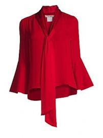 Alice   Olivia - Meredith Bell-Sleeve Blouse at Saks Fifth Avenue