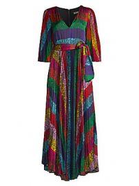 Alice   Olivia - Meryl Pleated Tie-Waist A-Line Maxi Dress at Saks Fifth Avenue