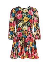 Alice   Olivia - Mina Floral Godet Dress at Saks Fifth Avenue